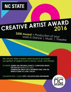 Creative Artist Award Flyer