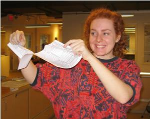 Tearing up paper registration form