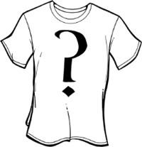 Question mark shirt-white
